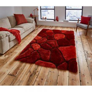 Covor Think Rugs Noble House, 120 x 170, roșu-portocaliu