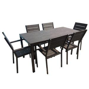 Set gradina/terasa Agma Horeca, masa 156x78cm cu 6 scaune