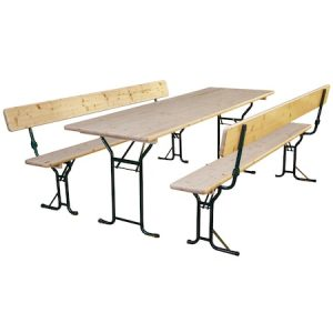 Set mobilier gradina/berarie lemn natur