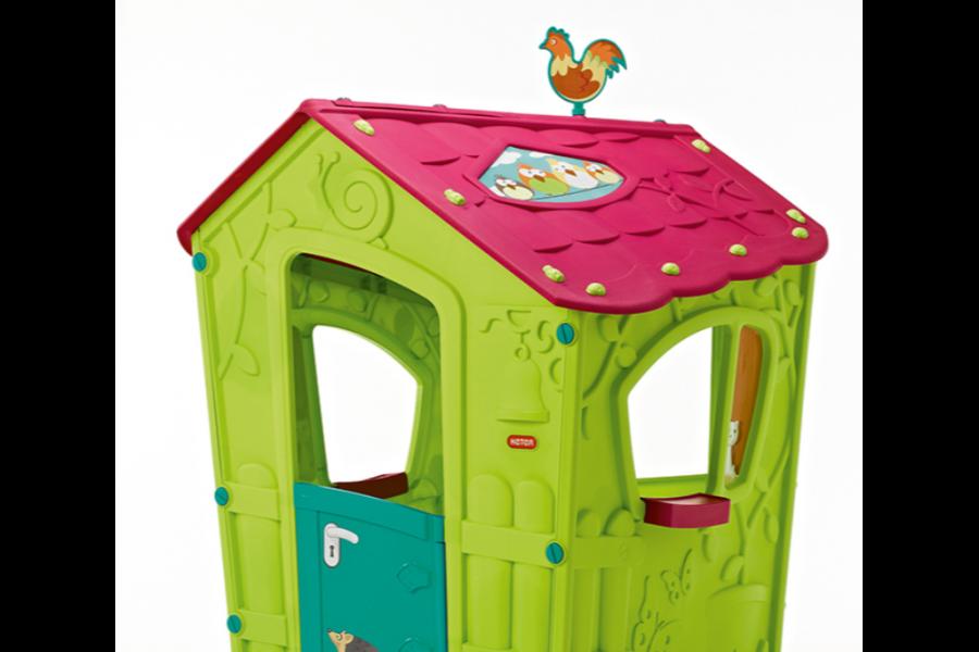 Casuta de joaca copii, Keter Magic Play House, plastic, 111 x 110 x 146 cm, verde deschis/mov | Review si Pareri pertinente